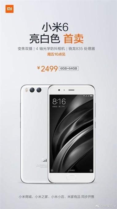 b2ap3_large_Xiaomi-Mi-6-white Xiaomi Mi 6 in weiß