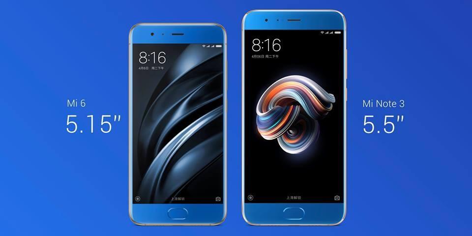 Xiaomi Mi Note 3 vs. Xiaomi Mi 6