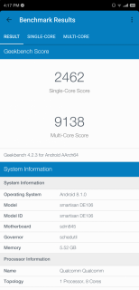 Smartisan R1 Geekbench Benchmark