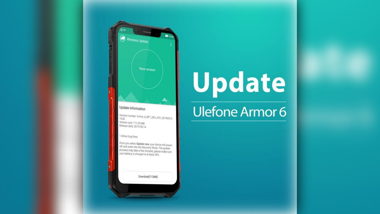 Ulefone Armor 6 Update behebt Telefonie Problem