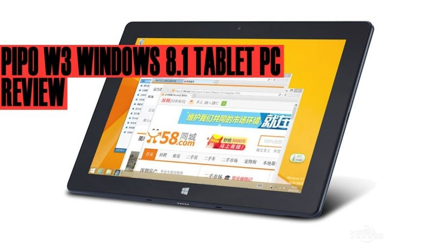 Pipo W3 Review - Solides Windows Tablet